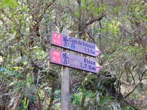 Znakovi duž Rabasal planinarskih staza