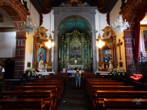 Inside of the Church Monte on Madeira Island