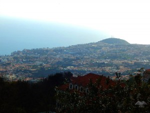 View from the hilltop on which is located church Monte