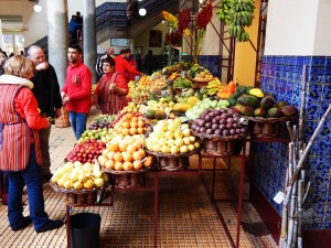 Exotic tropical fruit varieties of Madeira Island