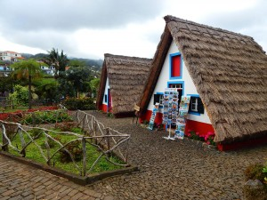 Traditional Madeira's houses in Santana town