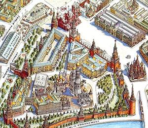 Mapa Moskve