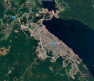 Map of Petrozavodsk