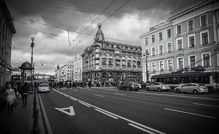 Nevsky Prospect in Saint Petersburg