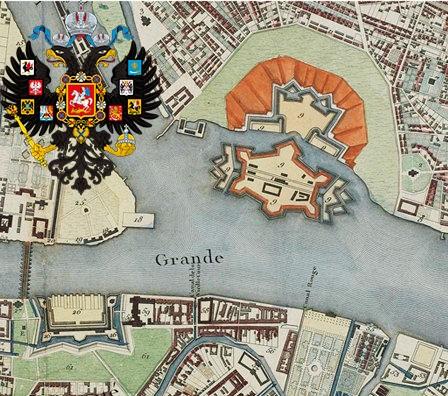 Mapa Sankt Peterburga