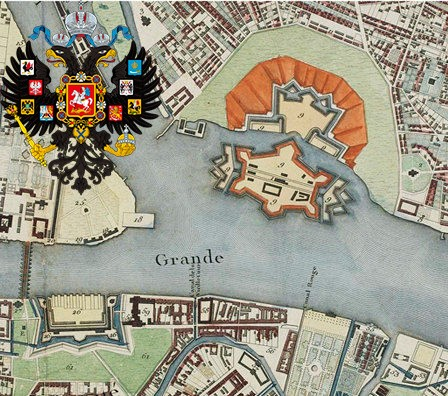 Map of Saint Petersburg