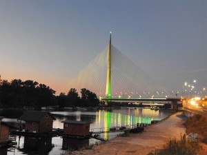 Ada Bridge in Belgrade