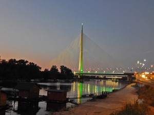 Ada Ciganlija Bridge in Belgrade