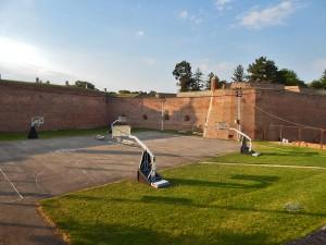 Basketball courts at Belgrade's Fortress