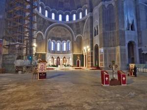 Inside of the Temple of Saint Sava