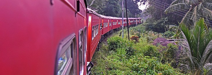 Panoramic train ride from Kandy to Ella