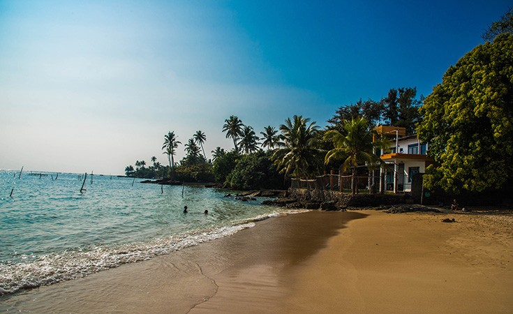 Polhena beach in Sri Lanka