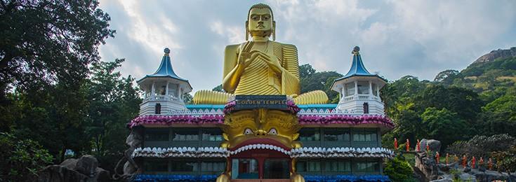 Golden Cave Temple in Dambulla